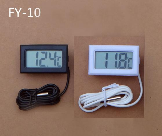 500pcs FY-10 LCD Digital Thermometer Probe Fridge Freezer Thermometer Thermograph for Refrigerator -50~ 110 Degree +Retail Box