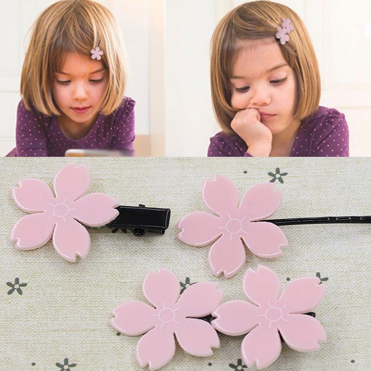 freeshipping schöner und netter koreanischer Kirschenhaarnadel-Kopfschmuck Kinderhaarzusatzblumen-Haarring 20pcs / lot