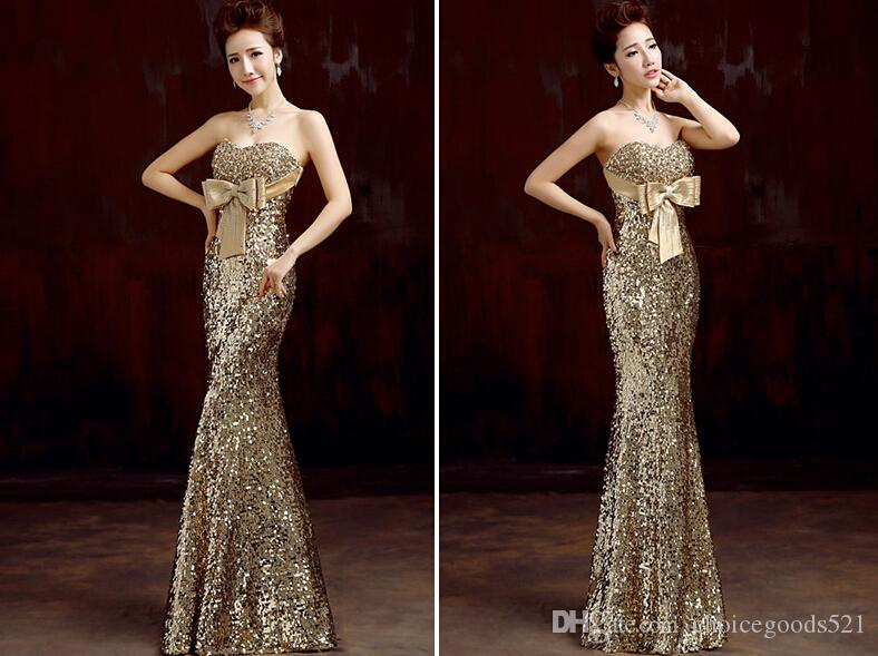 laest technology new arrive Discover Hot Sale Gold Dress For Women Sequins Clothing Golden Color Modest  Bridesmaid Dress Modest Bridesmaid Dresses Under 100 From Choicegoods521,  $85.43| ...