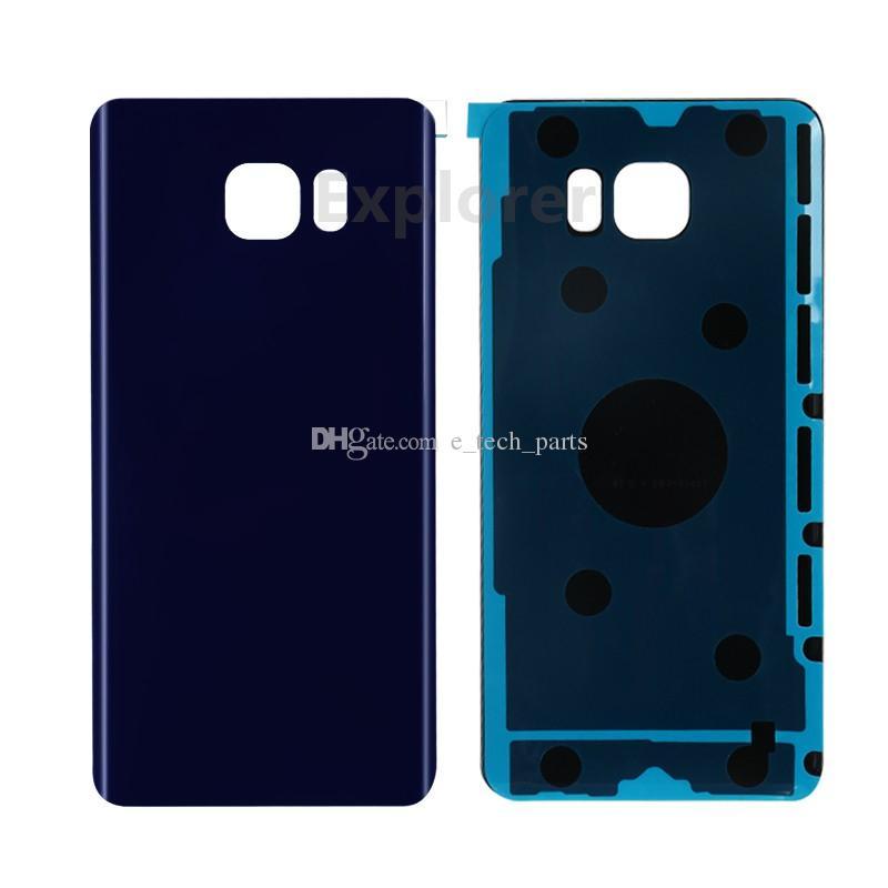 OEM Battery Door Back Cover Glass Housing + Adhesive Sticker For Samsung Galaxy Note 5 N9200 N920V N920F VS N920T N920P 10pcs/Lot