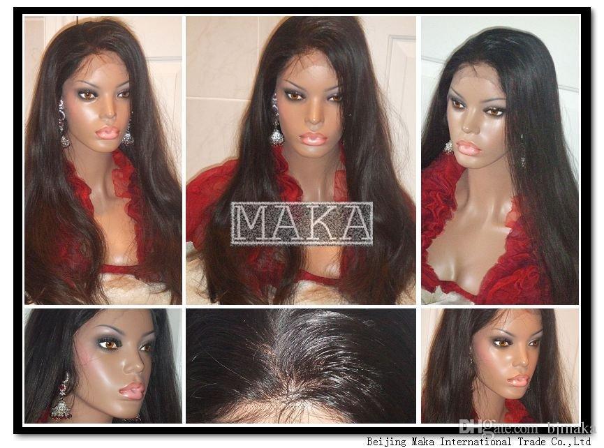 Peluca delantera del cordón del pelo brasileño grueso 130% densidad Pelucas naturales del pelo humano del color Peluca llena del cordón de Glueless recto con el pelo del bebé