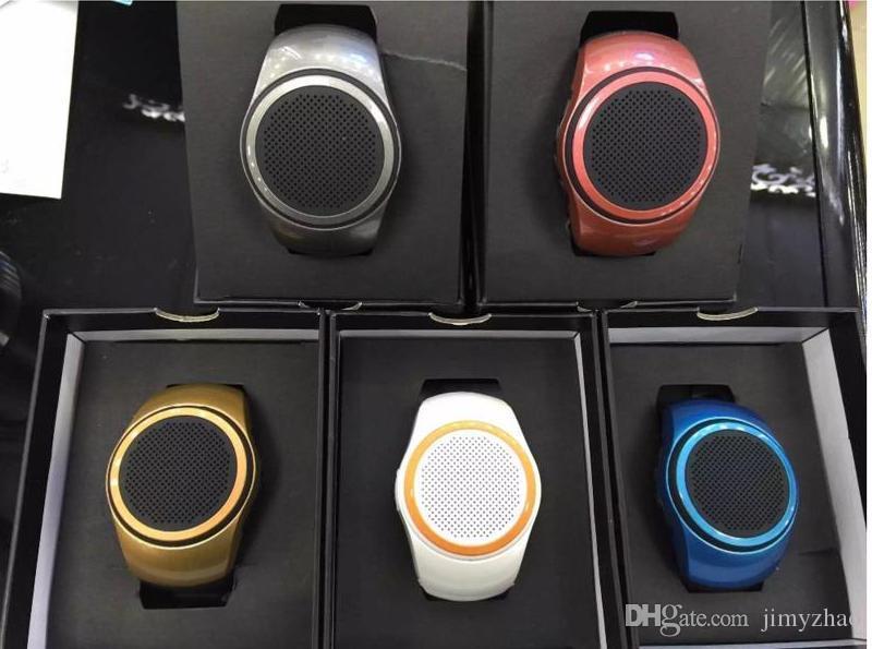 Ubit B20 смарт-часы с автоспуском анти-потерянный будильник музыка спорт мини bluetooth динамик поддержка TF карта FM-радио AUX громкой связи