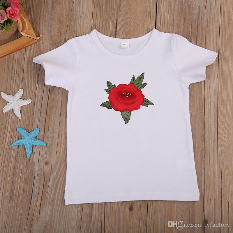 2 Pack Filles à manches courtes t shirts 1 rose 1 rose /& blanc à rayures