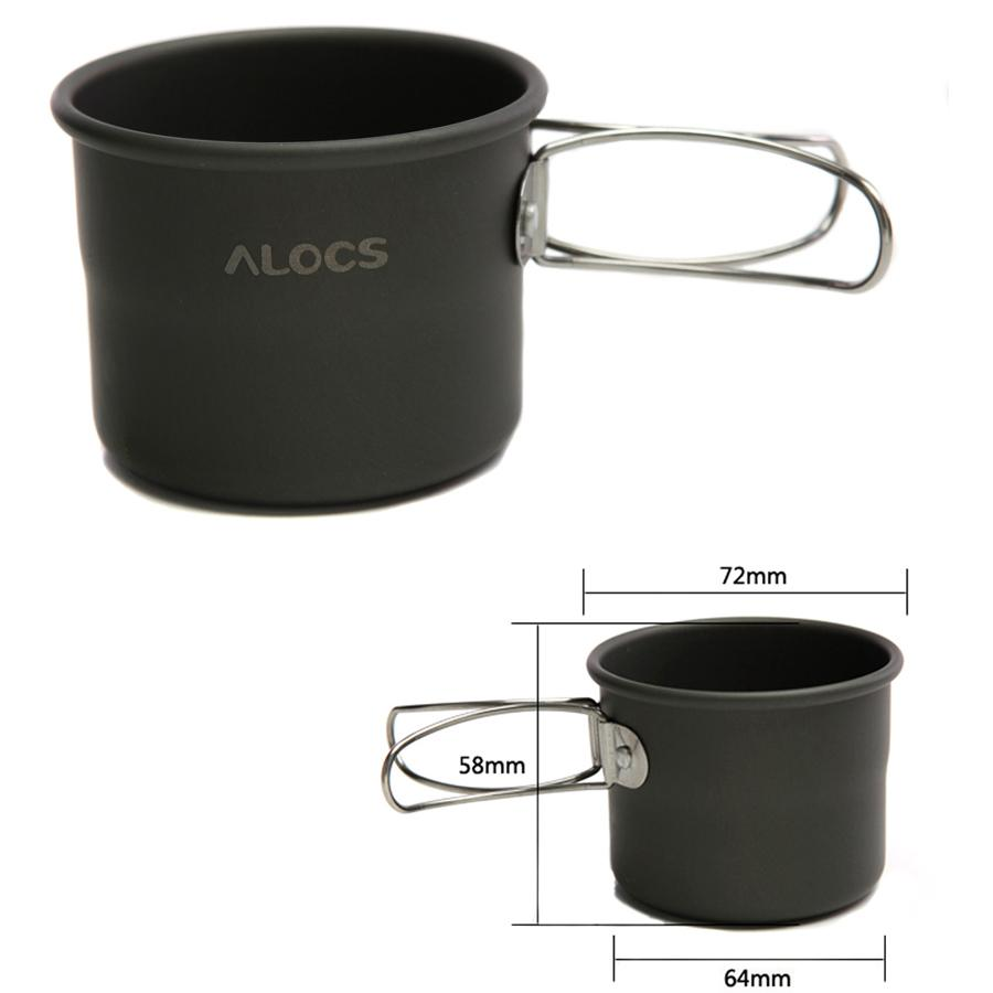 150ml Portable Outdoor Camping Drinkware Super Lightweight Aluminum Oxide Cup With Foldable Handles ALOCS Free Shipping