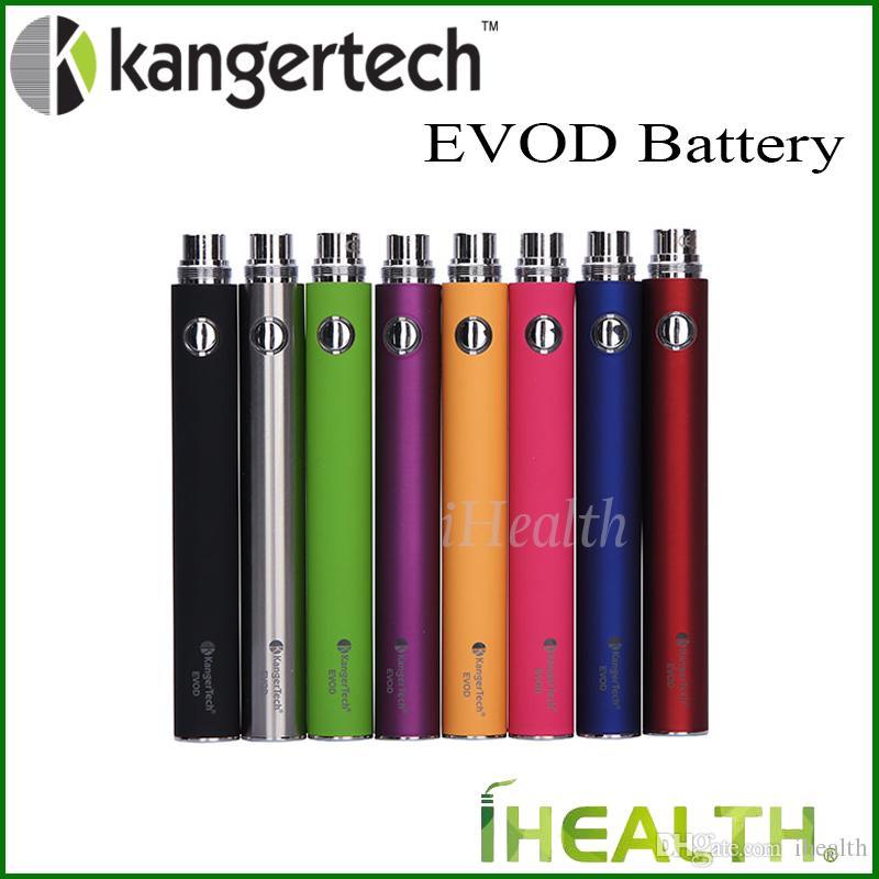 Kanger Evod Batterie 1000mAh 1000mAh eGo fil batterie 100% 8 originaux couleurs en stock