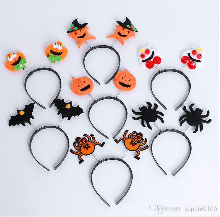 Faixas de Halloween Headbands Abóbora Bandas Crianças Spider crochet headbands Bebê gorro Crianças Hairband Acessórios Para o Cabelo DD 001