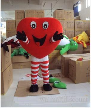 Fabrika doğrudan satış kırmızı yetişkin maskot giyim yetişkin boyutu Maskot Kostüm Cadılar Bayramı sahne aşk rol oynamak giyim ücretsiz teslimat