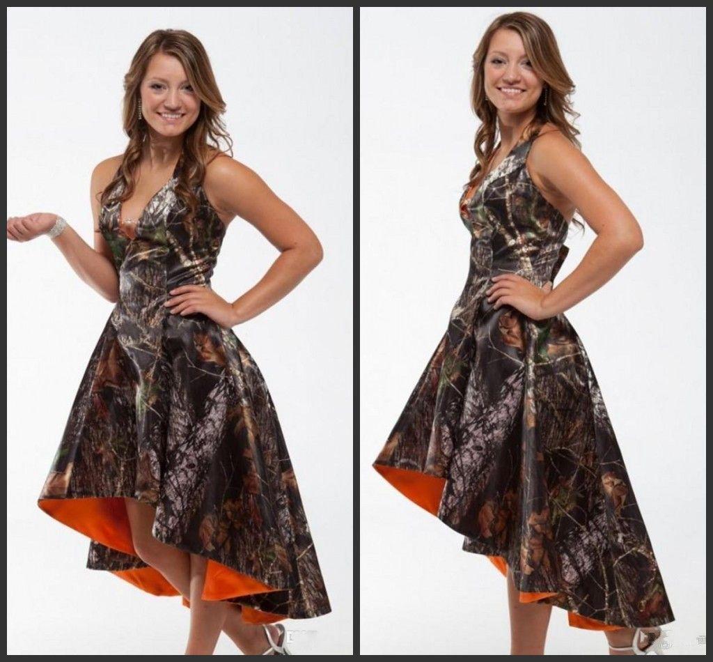 2020 Alta Baixa Camo Pro mDress curto vestido da dama Top V Neck mangas Chepa Preço Hot Sale Charming