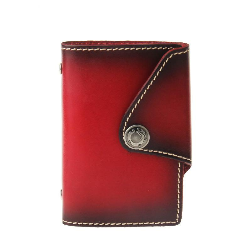 Men 's and women' s hand - made tanned leather bag head layer of leather European and American style card sets
