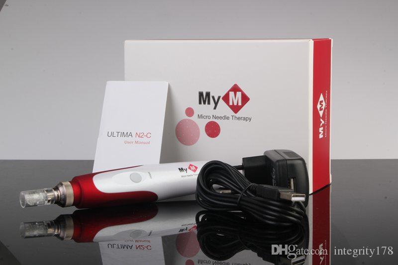 5-Gang-Auto-Mikronadelsystem Einstellbare Nadellängen 0,25 mm bis 3,0 mm derma-Stift MYM ULTIMA N2-C mit 2 Nadelpatronen