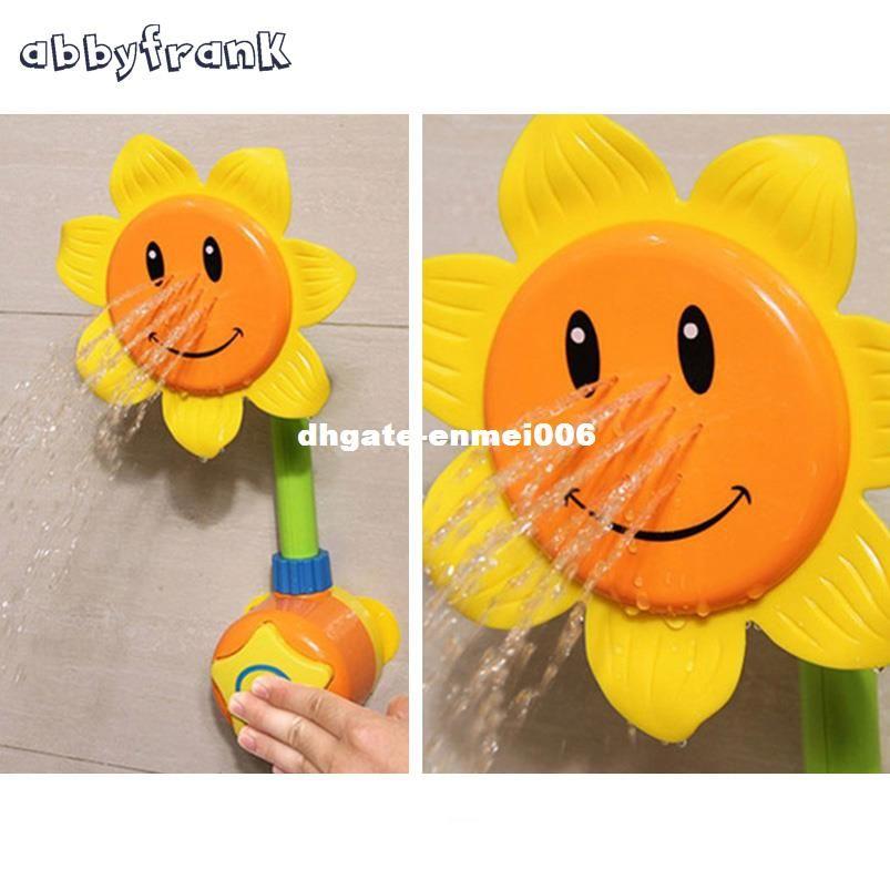 Abbyfrank Brinquedo Do Banho Do Bebê Crianças Piscina Brinquedos de Natação Chuveiro de Girassol Chuveiro 0-12 Meses de Aprendizagem Brinquedo De Banho Presentes Para As Crianças