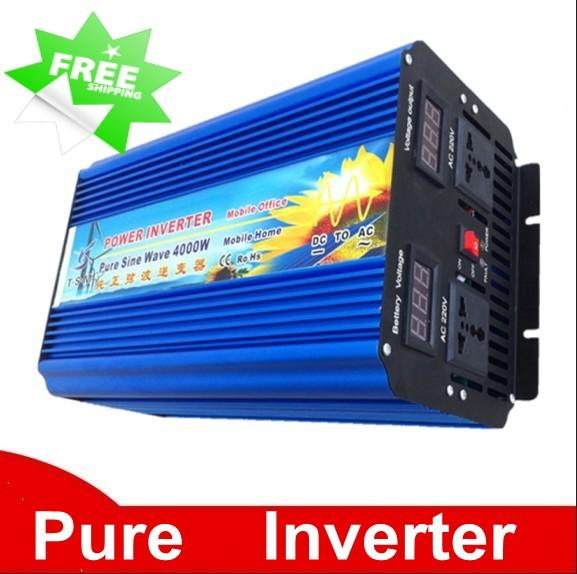 DHL FedEx UPS free shipping 8000W Peak 4000W onduleur solaire DC24V to AC220V power inverter 4000W pure sine wave inverter 8000W Peak power