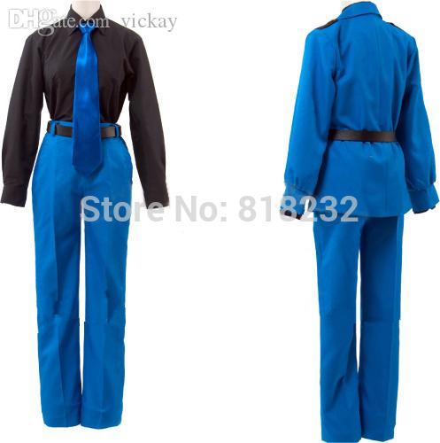 New Axis Powers APH Hetalia North Italy Cosplay Blue Uniform Costume Unisex