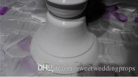 Centres de conception vase de fleur blanche design unique pour la décoration de mariage 206