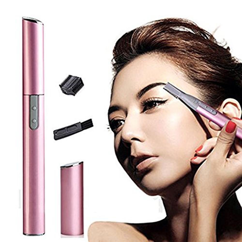 Femmes du visage Tondeuse électrique Sourcils Kit Styling Pen Trimmer Shaver