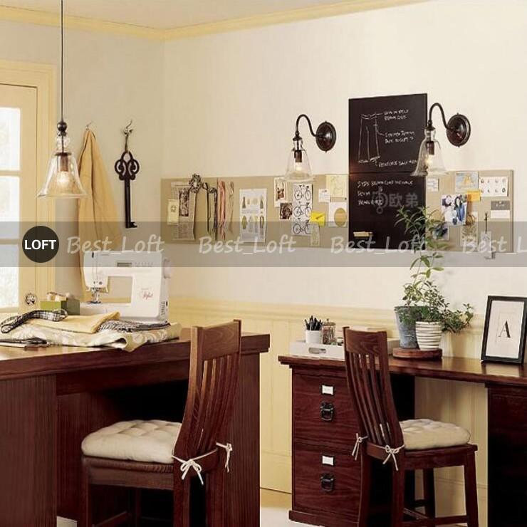 ... Amerikanische Rustikale Retro Loft Stil Vintage Industrial Wandleuchte  Lampe Mit Blumen Glas Schatten Für Haus Wand ...