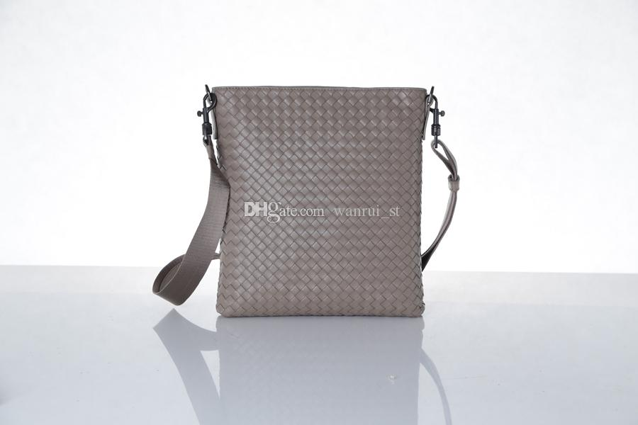 Marke Designer Männer echtes Leder Handtasche schwarz dunkel Kaffee dunkelblau Aktentasche Laptop Schultertasche Messenger Bag echte Ledertaschen