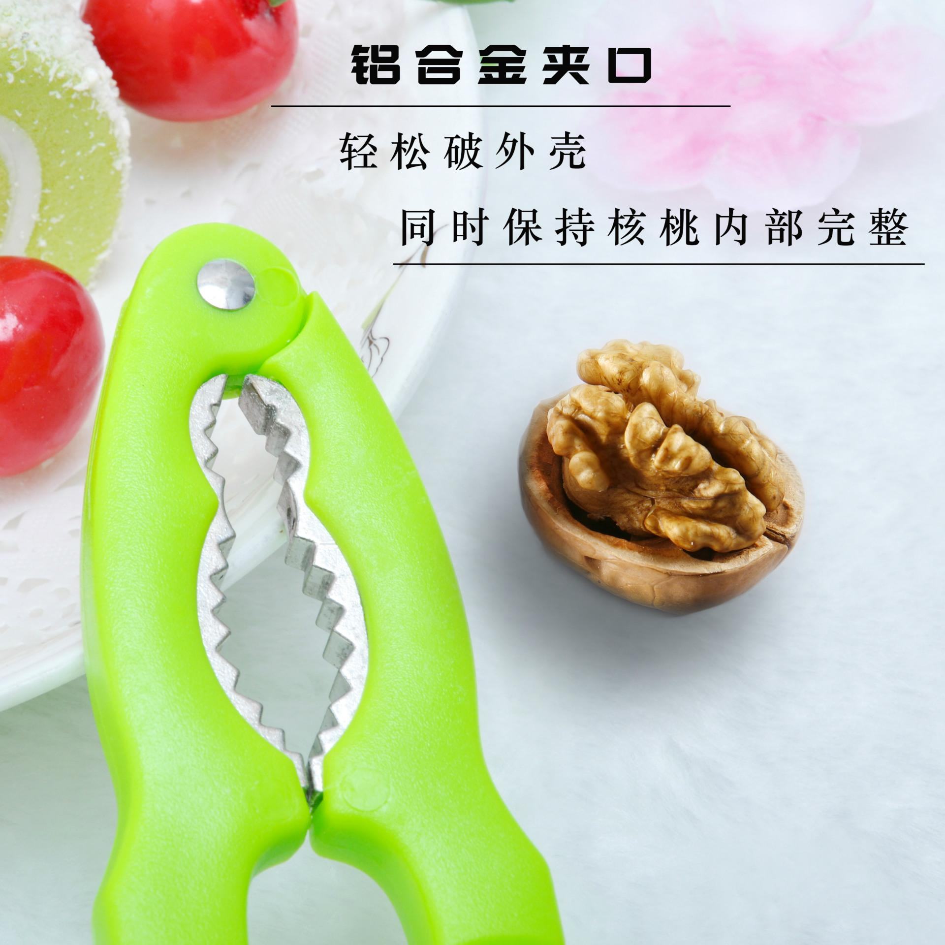 Fabricantes que vendem plástico clipe de noz de aço inoxidável clipe de caranguejo porcas clipe gadget de cozinha criativa