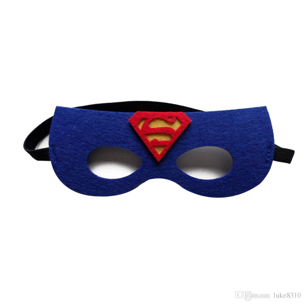210 stile kinder superhero masken neue cartoon charakter fühlte kind masken halloween weihnachten urlaub favor cosplay superhero masken