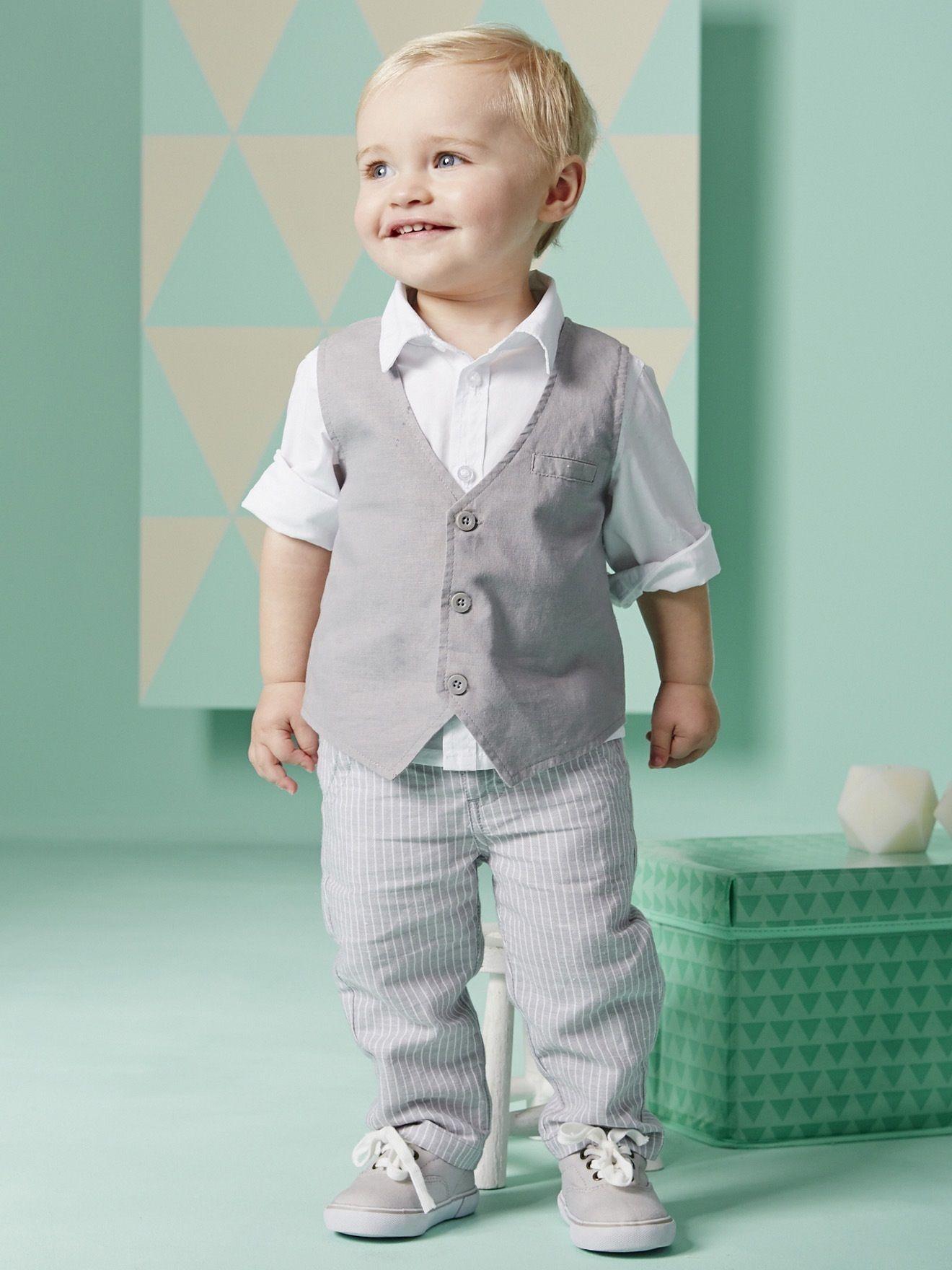 2016 Nuovo Ragazzo Imposta Camicie Manica Lunga Pantaloni Gilet 3 Pz Set Boy Gentleman Set baby boy gilet set tre pezzi vestito a strisce
