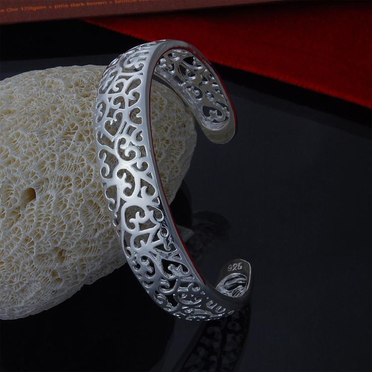 Pulsera de plata de la joyería de la manera de la venta al por mayor 925 de la plata esterlina de la abertura directa de la fábrica pulsera de plata de la joyería de la manera
