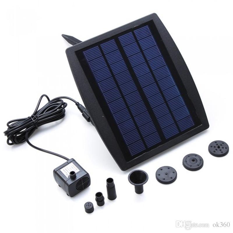 CE solar RoHS de la bomba de agua de la fuente de energía solar enchufable de las fuentes del poder de la piscina del paisaje del panel de la energía solar de 9V 2.5W