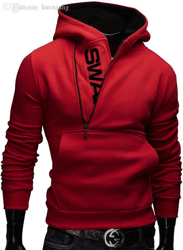 Wholesale-6colors M-6XL 2016 Hoodies 남성 운동복 남성 Tracksuit 지퍼 포켓 캐주얼 스포츠 후드 자켓 molton Assassins Creed 801