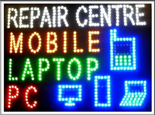 2016 Hot Sale custom Graphics 15.5X23.6 Inch indoor Ultra Bright flashing mobile/pc/laptop repair centre sign of led- Wholesale