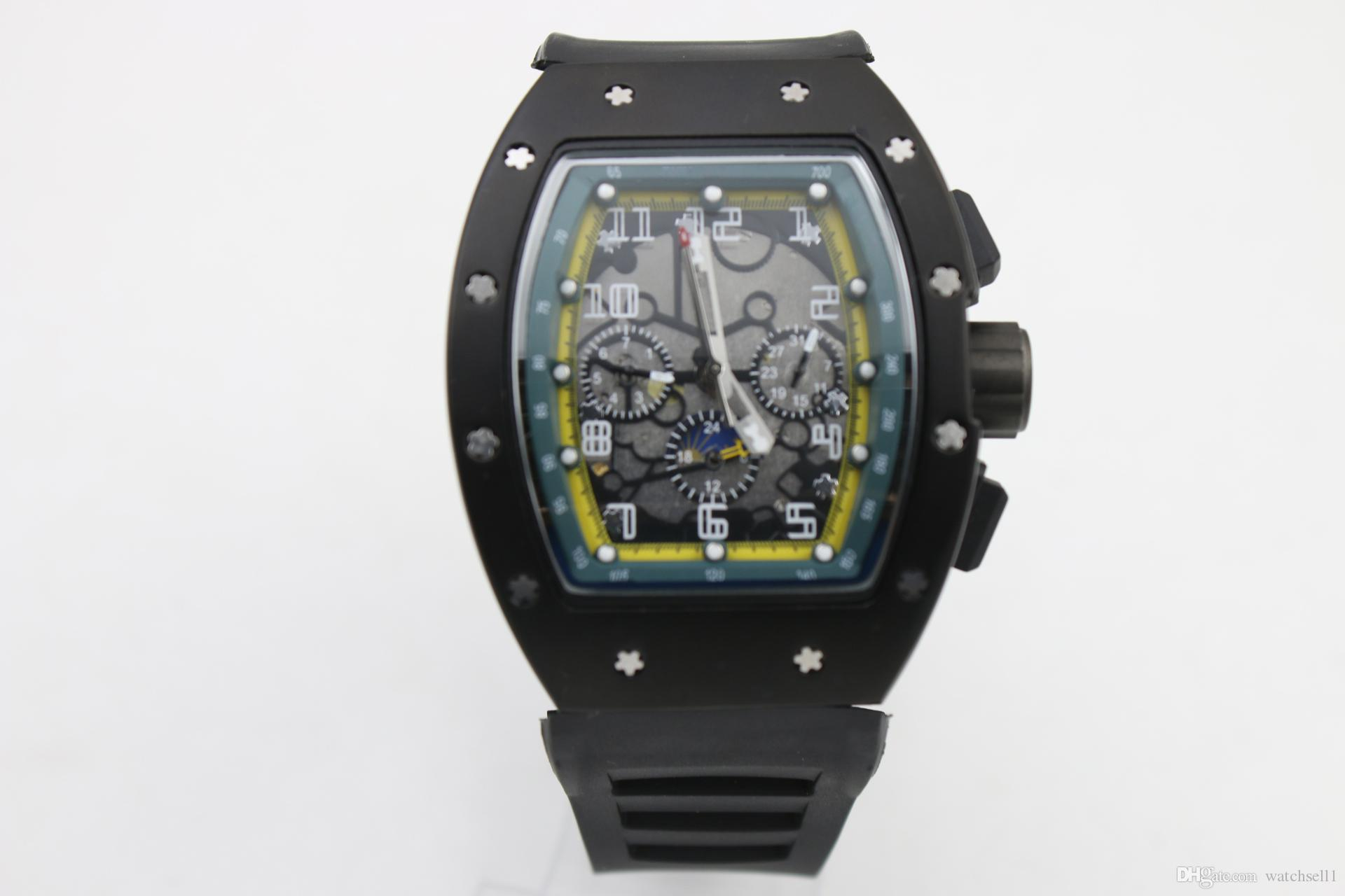 watchsell Man good 011 watch rubber black case green shadow 6 needle Automatic machinery watch