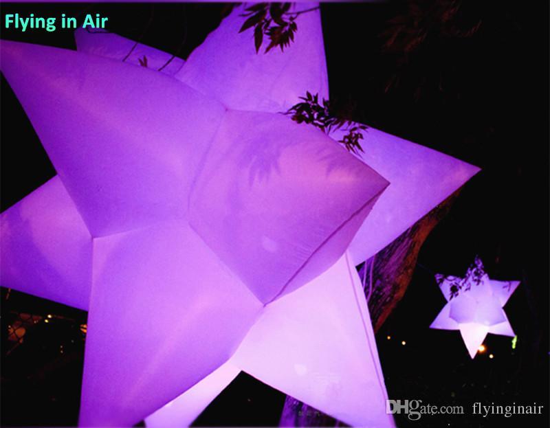 사용자 지정 공기 스타 여러 가지 빛깔의 풍선 빛 파티 장식 매달려 별