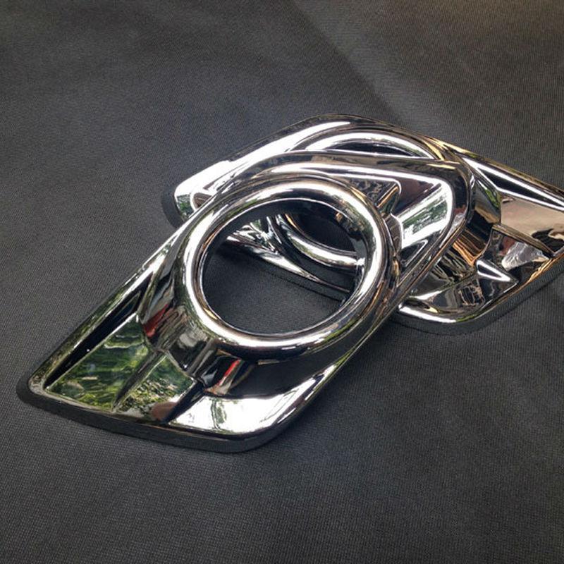 ABS Chrome Front Head Fog Light Cover per 2014 Nissan X-Trail X Trail XTrail Fendinebbia Copertura Trim Accessori auto 2 pezzi