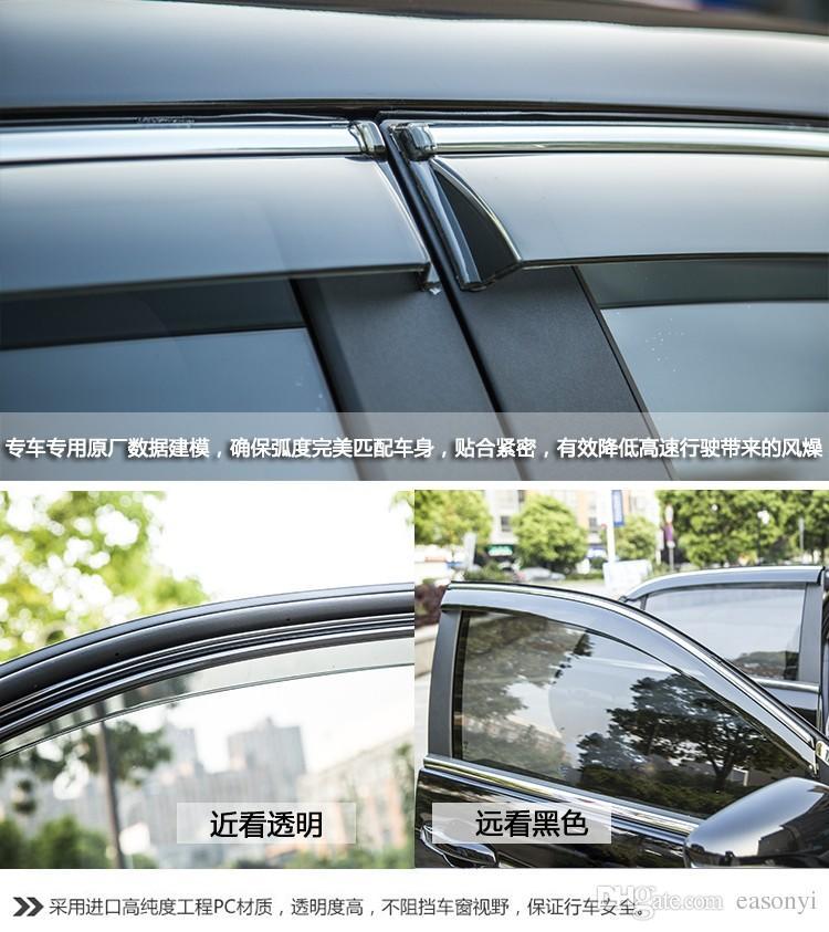 2014 년 2015 년 닛산 X 트레일 X 트레일 X 레일 레일 T38 윈도우 바이저 벤트 썬 레인 디플렉터 가드 Awnings 자동차 액세서리