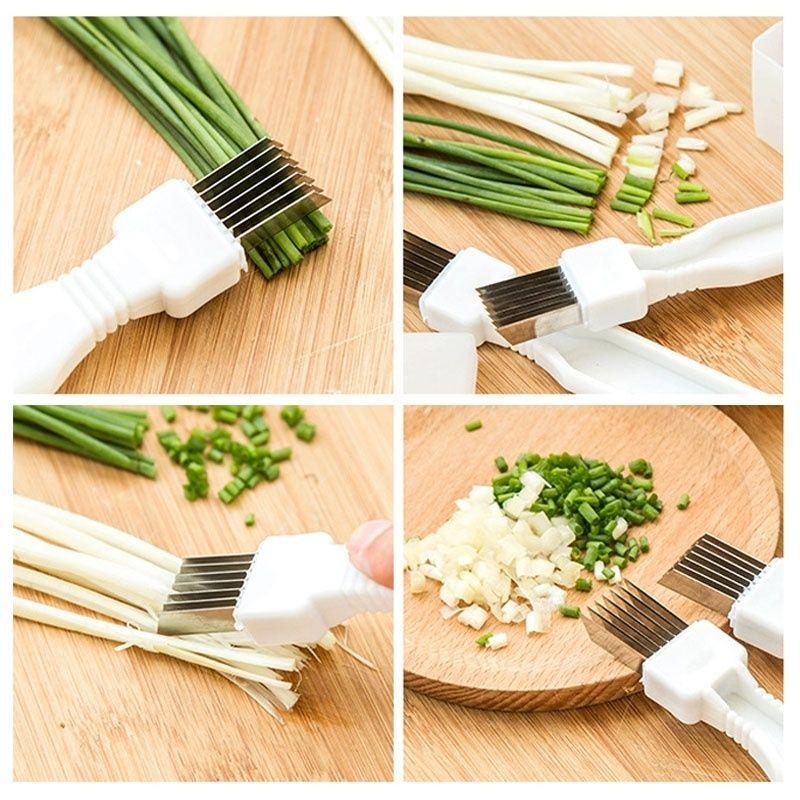 1 pcs Stainless Steel Green Onions Cutter Green Spring Onion Slicer Device Vegetable Shredder Slicer Cutter Easy Handle