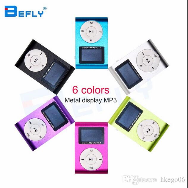 Hot marking Mini USB Clip MP3 Player LCD Screen Support 32GB Micro SD TF Card Digital Mp3 players Come with Earphone USB Cable