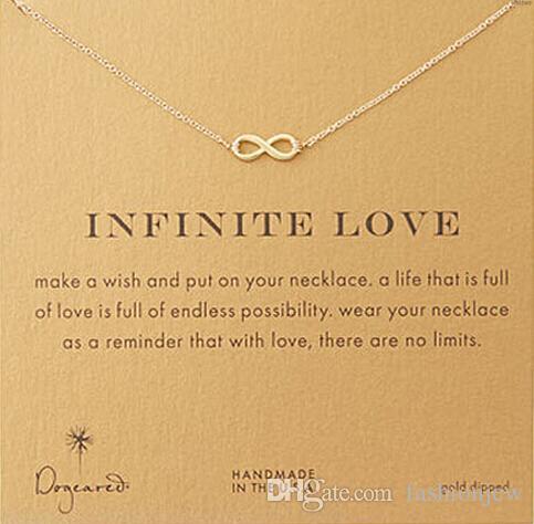 Любовь кулон Dogeared ожерелье (Бесконечная любовь), благородные и тонкие ювелирные изделия, панк колье ожерелья классический подарок на День Рождения