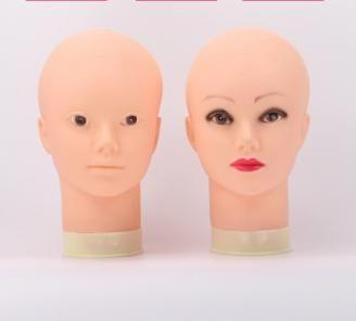 New arrival 2019 cheap bald female model head mannequin for wigs human hair display makeup massage training head human hair QM 022
