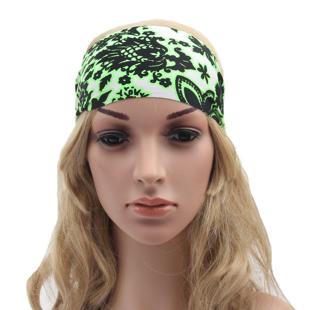Women Fashion Yoga Headband Stretch Twist Turban Sport Headbands ...
