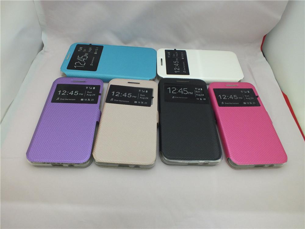 Custodia Cover in pelle protettiva ufficiale PU Flip elegante per Samsung Galaxy On5 G550 / On7 G6000 / Core 2 G355H / Samsung Z3 Z300