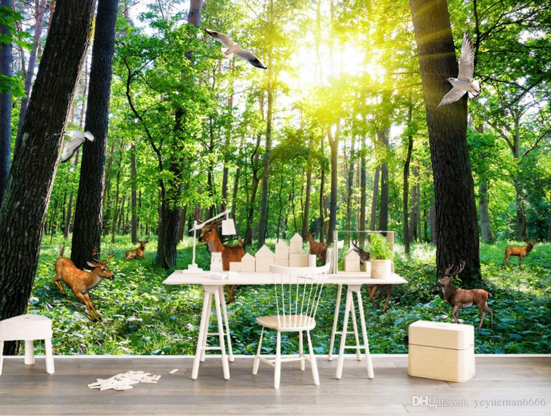 Forest Background Wall Wallpaper For Bedroom Modern Wallpapers For Living Room 3d Wallpaper Walls