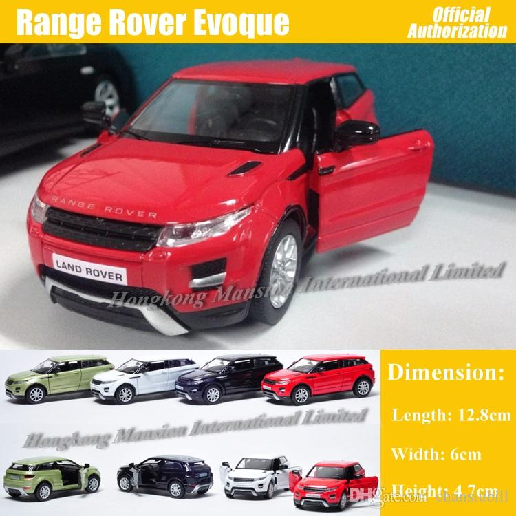 1:36 Scale Diecast Metal Alloy Car Model For Range Rover Evoque Collection Model Pull Back Toys Car - Red/ White/ Black/ Green