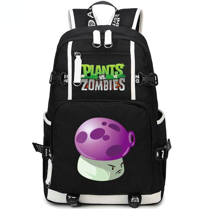 Puff shroom backpack Plants vs Zombies daypack PVZ الفطر المدرسية حقيبة الظهر الرياضة حقيبة مدرسية في الهواء الطلق حزمة اليوم