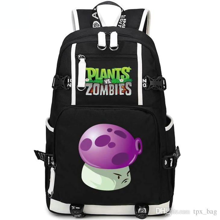 퍼프 shroom 배낭 식물 vs 좀비 daypack PVZ 버섯 schoolbag 게임 rucksack 스포츠 학교 가방 야외 데이 팩