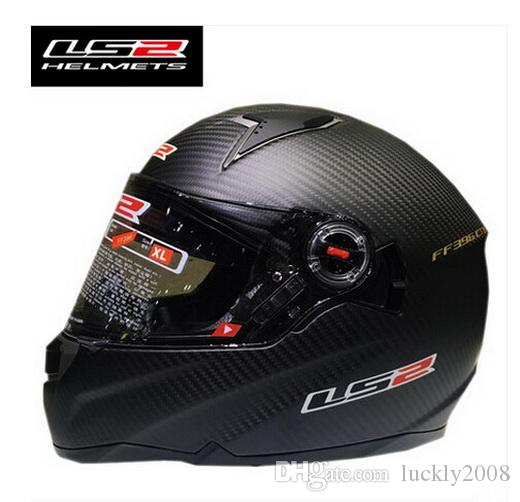 2016 New LS2 double lens carbon fiber motorcycle helmet full face motorbike run helmets with regulator safety airbag FF396.1 CR1