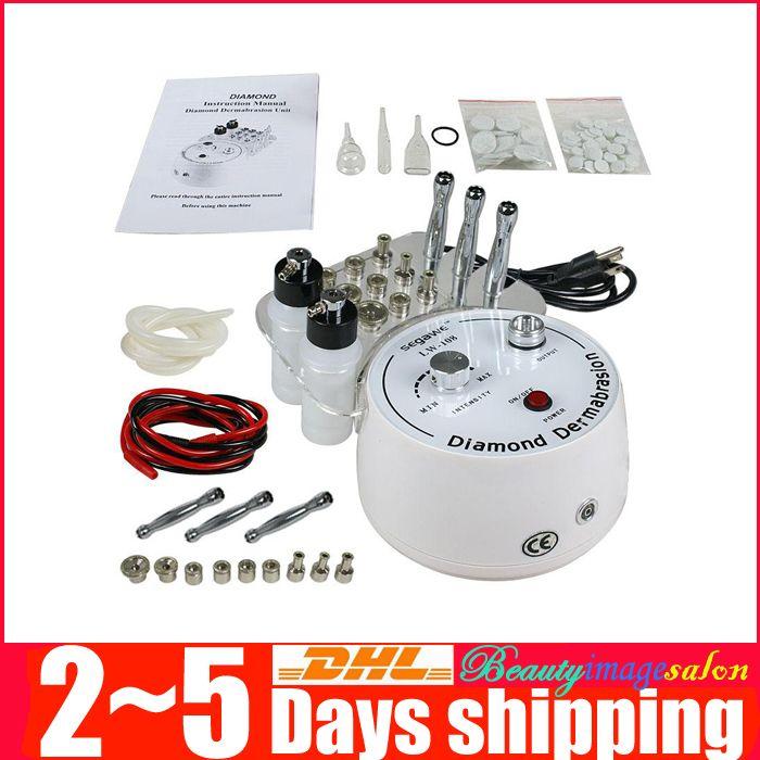 Portable Diamond Microdermabrasion Dermabrasion Vacuum Spray Facial Skin Peeling Lifting Anti-aging Beauty Equipment 3in1 Spa Machine