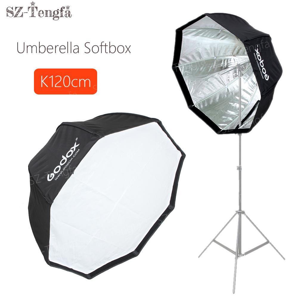 "Freeshipping 120cm 48 ""Umbrella Octagon Softbox Flash Estúdio Refletor Softbox Para Câmera Speedlite"