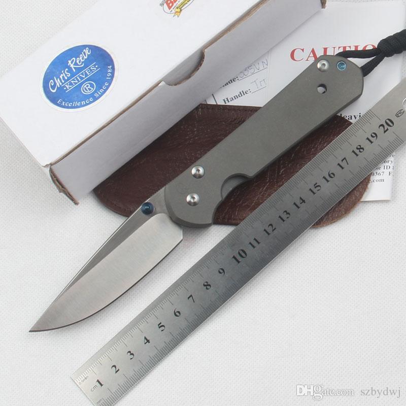 Sebenza 21 pocket knife Chris Reeve folding knife D2 blade satin finish TC4 titanium handle survival gear camping outdoor tool hunting knife
