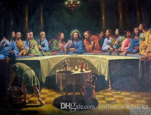 THE LAST SUPPER Christ Jesus,Free Shipping Pure Handmade World Famous portrait Art Oil painting canvas In Any size customized