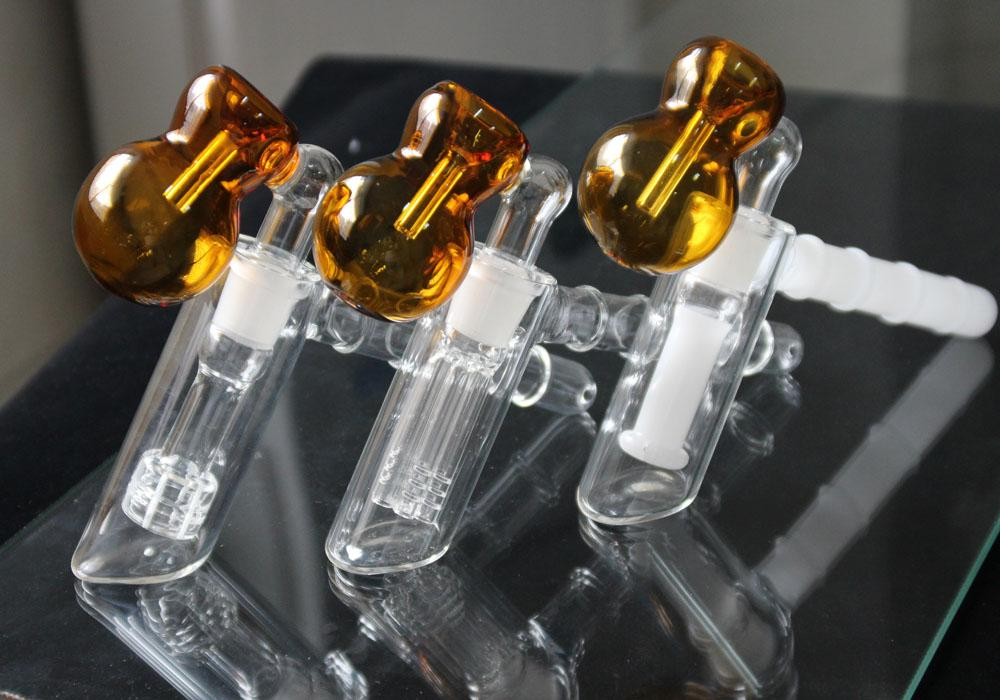 3 Pipes Design Mão Martelo 6 braços Perc de vidro Percolator Bubbler da tubulação de água de vidro cachimbos tabaco para cachimbo Oil Rigs vidro Bongos