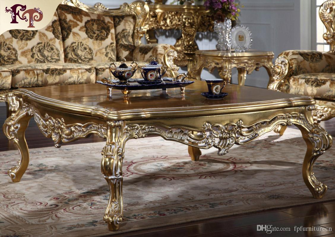 Antique furniture manufacturer-French classic coffee table - Luxury high end villa furniture