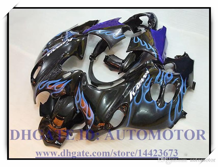Kit carenatura BLACK FLAME 100% adatto per Suzuki GSX 600F GSX 750F 2003-2005 2004 GSX600F / 750F 03 04 05 GSX600F / 750F 2003-2005 # 7FY39